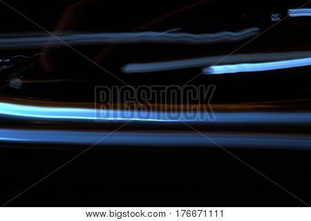 light streaks motion blur at night abstract background