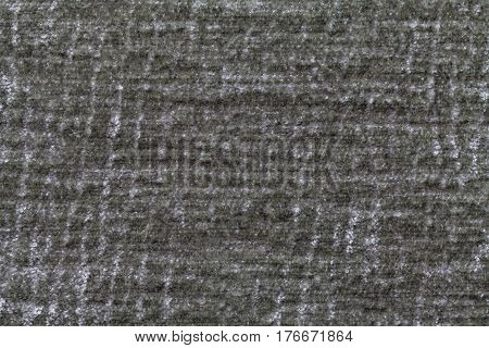 Dark green and gray background of soft fleecy cloth. Texture of textile closeup.