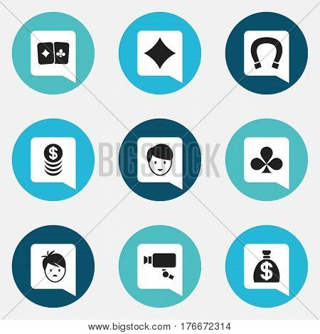 Set Of 9 Editable Excitement Icons. Includes Symbols Such As Tracking Cam, Moneybag, Boy And More. Can Be Used For Web, Mobile, UI And Infographic Design.