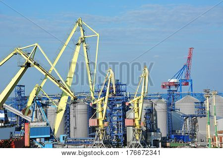 Cargo Crane And Grain Dryer