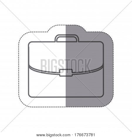 sticker silhouette briefcase executive icon flat vector illustration