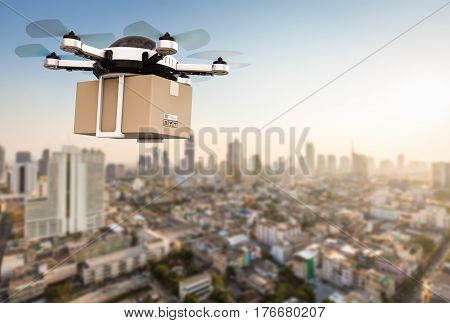Delivery Drone Flying