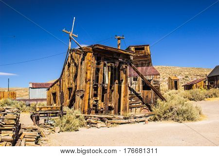 Historic Wood Saw Mill In California Ghost Town