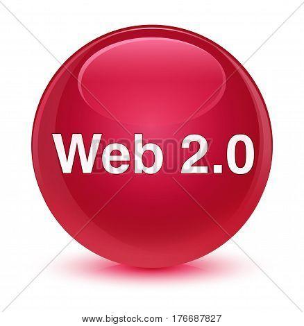 Web 2.0 Glassy Pink Round Button