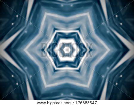 Abstract Extruded Mandala Hexagon
