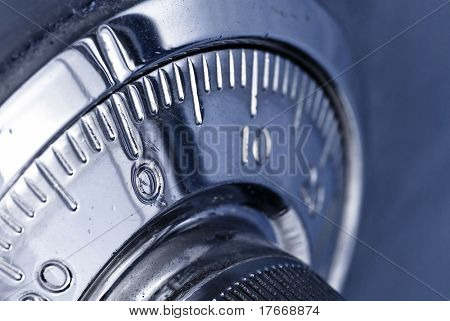 combination safe lock closeup poster