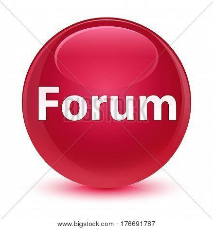 Forum Glassy Pink Round Button