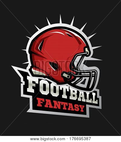 American football modern logo. Fantasy football Vector illustration.