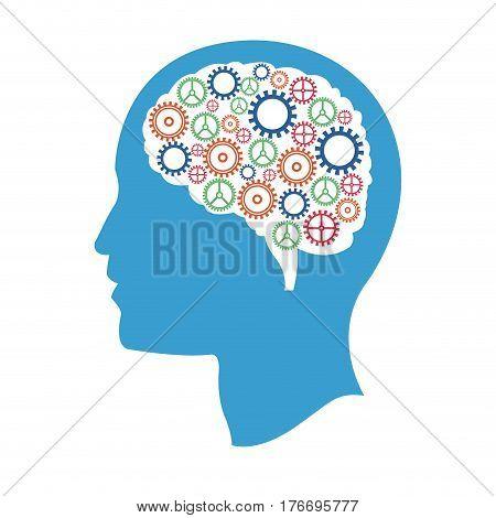 head gears idea creativity vector illustration eps 10