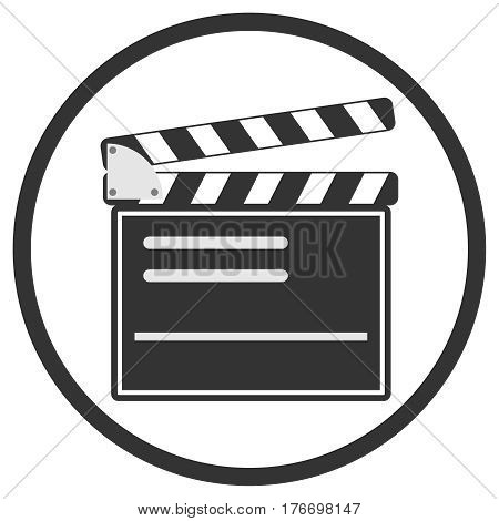 Production of the film. Flat design vector illustration vector.
