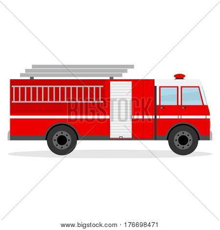Fire engine. Flat design vector illustration vector.