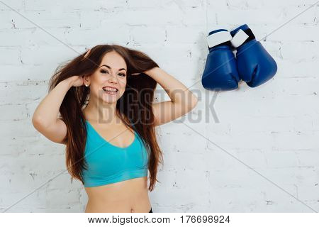 Woman With Braces Resting After A Workout