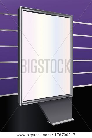 A Blank Mupie Outdoor Poster Vector Illustration