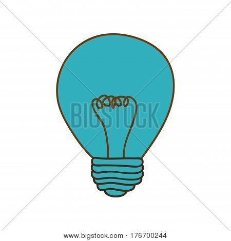 silhouette of light bulb in blue color vector illustration