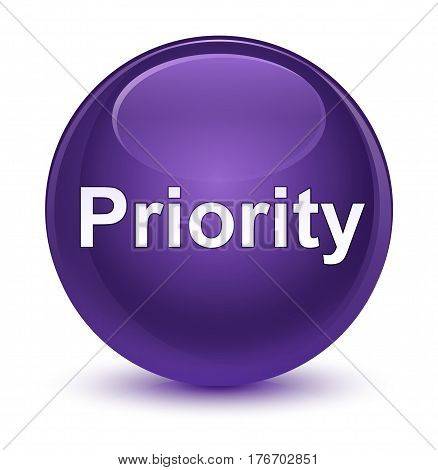 Priority Glassy Purple Round Button