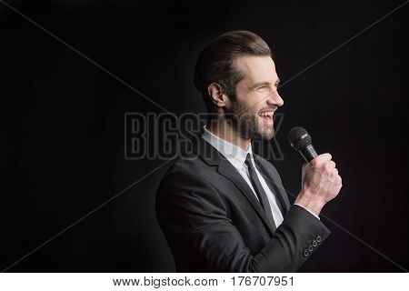 Young Man With Microphone