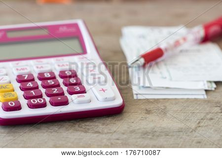 slips payment expense of credit card and check control monthly