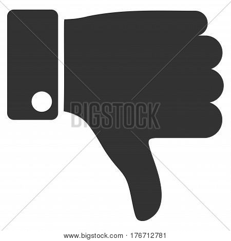 Thumb Down vector icon. Flat gray symbol. Pictogram is isolated on a white background. Designed for web and software interfaces.
