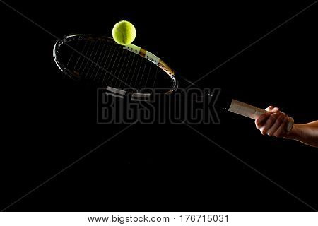 Woman With Tennis Racket And Ball