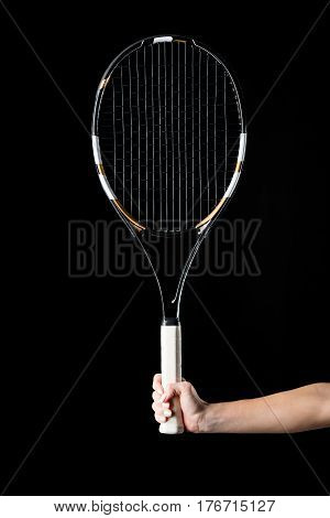 Hand With Tennis Racquet