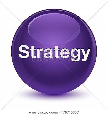 Strategy Glassy Purple Round Button