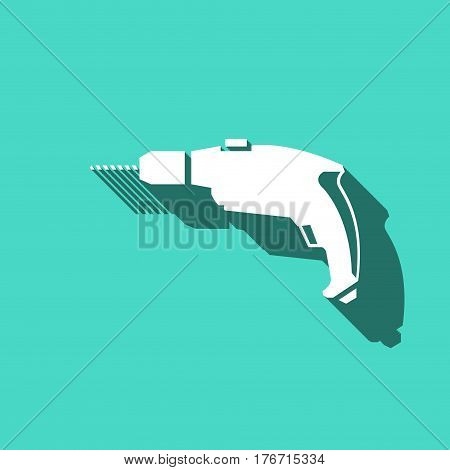 drill icon stock vector illustration flat design