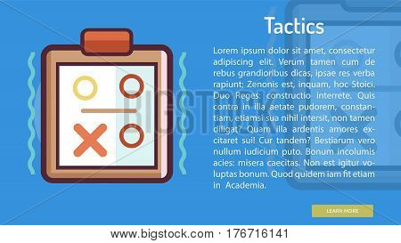 Tactics Conceptual Banner | Great banner flat design illustration concepts for Business, Creative Idea, Marketing and much more