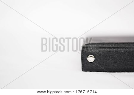Top View Of Close Up Notebook Black