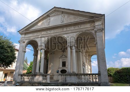 First Chapel At Sacro Monte Di Varese. Italy