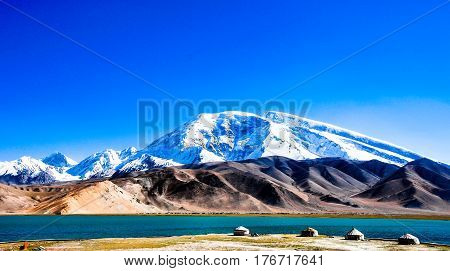 The Pamir plateau on the roof of the world located in Kashgar of Xinjiang China.