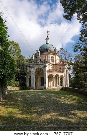 Fourth Chapel At Sacro Monte Di Varese. Italy