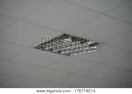 The Construction Of The Ceiling, A Broken Ceiling Lamp