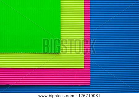Colorful Sheets Of Corrugated Cardboard,