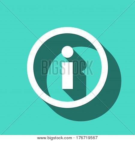 info icon stock vector illustration flat design