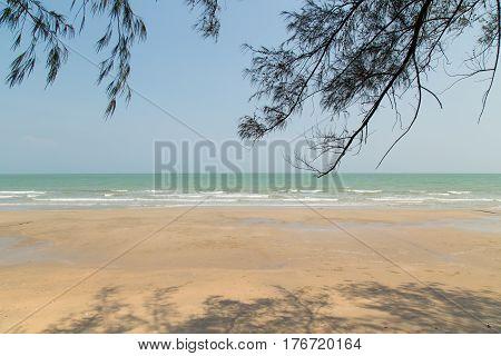 Cha-Am Beach a famous beach Thailand .