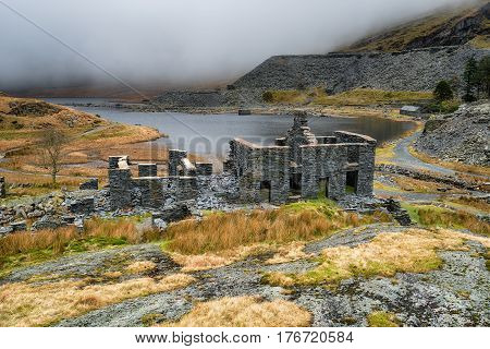 Abandoned Slate Quarry In Wales
