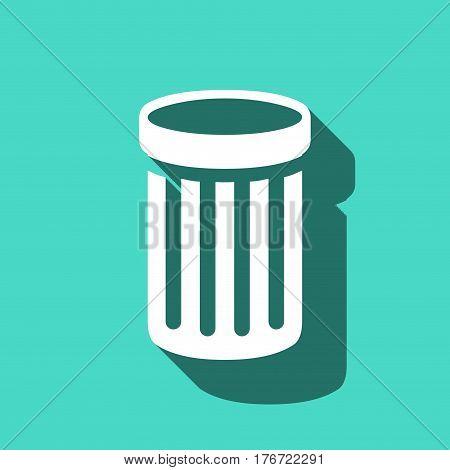 trash bin icon stock vector illustration flat design