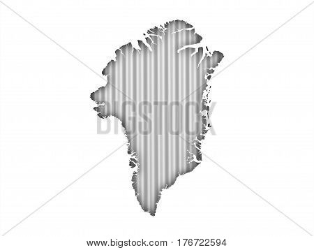 Map Of Greenland On Corrugated Iron