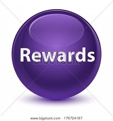 Rewards Glassy Purple Round Button