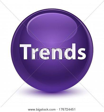 Trends Glassy Purple Round Button
