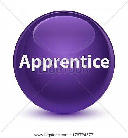 Apprentice Glassy Purple Round Button
