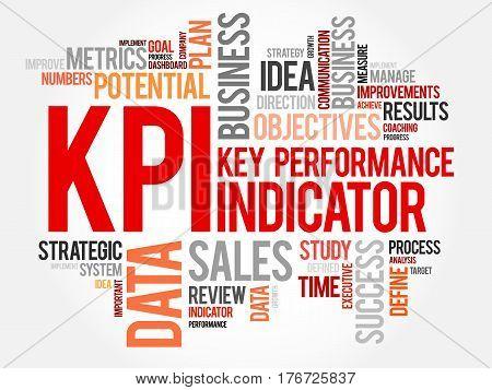 KPI - Key Performance Indicator word cloud business concept