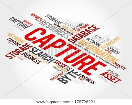 Capture word cloud collage, technology business concept background