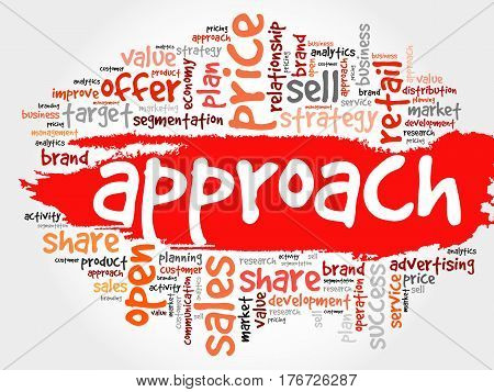 Approach Word Cloud Collage