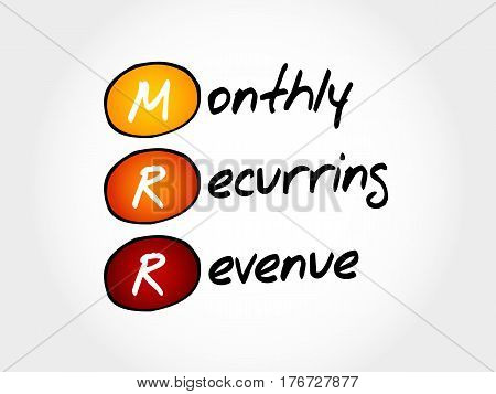 Mrr - Monthly Recurring Revenue