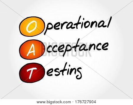 Oat Operational Acceptance Testing