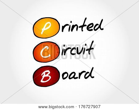 PCB Printed Circuit Board , acronym concept