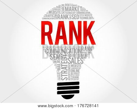Rank Bulb Word Cloud Collage