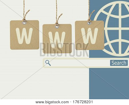 Internet online shopping and www searching background