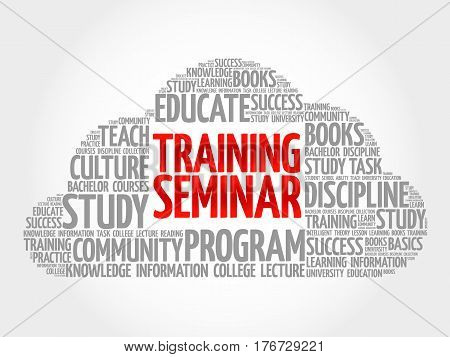 Training Seminar Word Cloud Collage